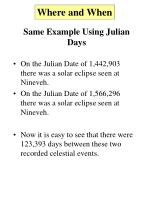 same example using julian days