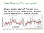 global warming the case against