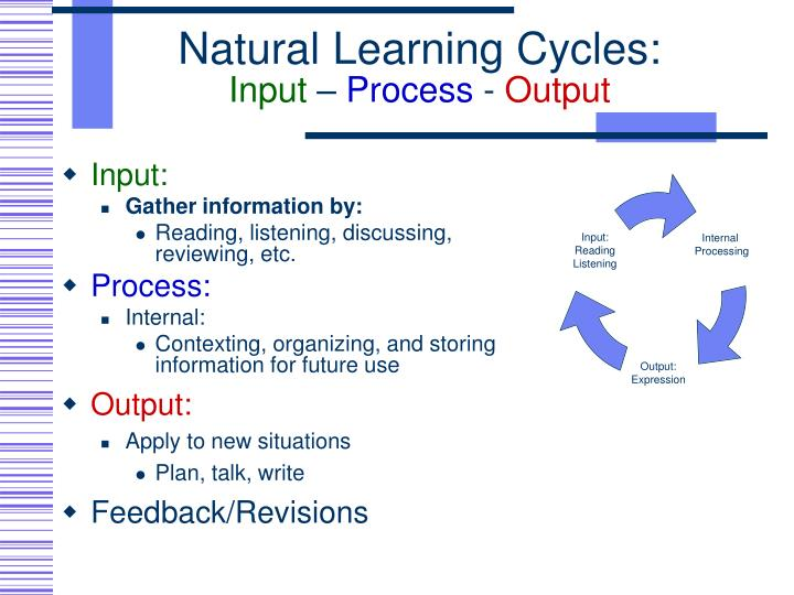 Natural Learning Cycles: