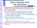 tasks change over the semester