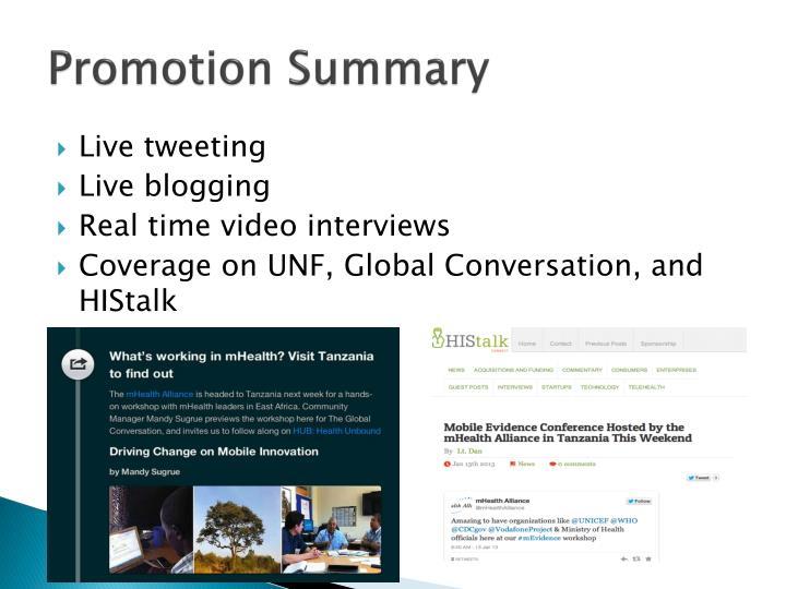 Promotion Summary