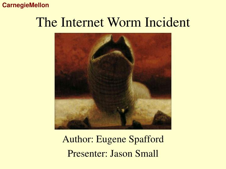 the internet worm incident n.