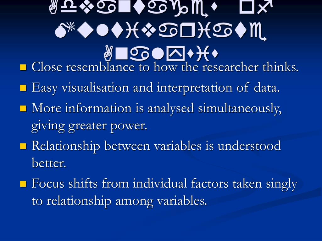 advantages of multivariate analysis l.
