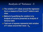 analysis of variance i