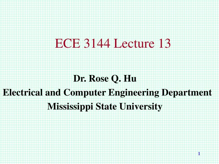ece 3144 lecture 13 n.