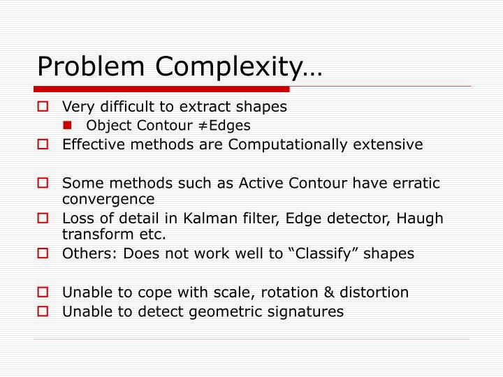 Problem Complexity…