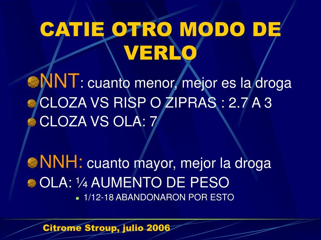 CATIE OTRO MODO DE VERLO