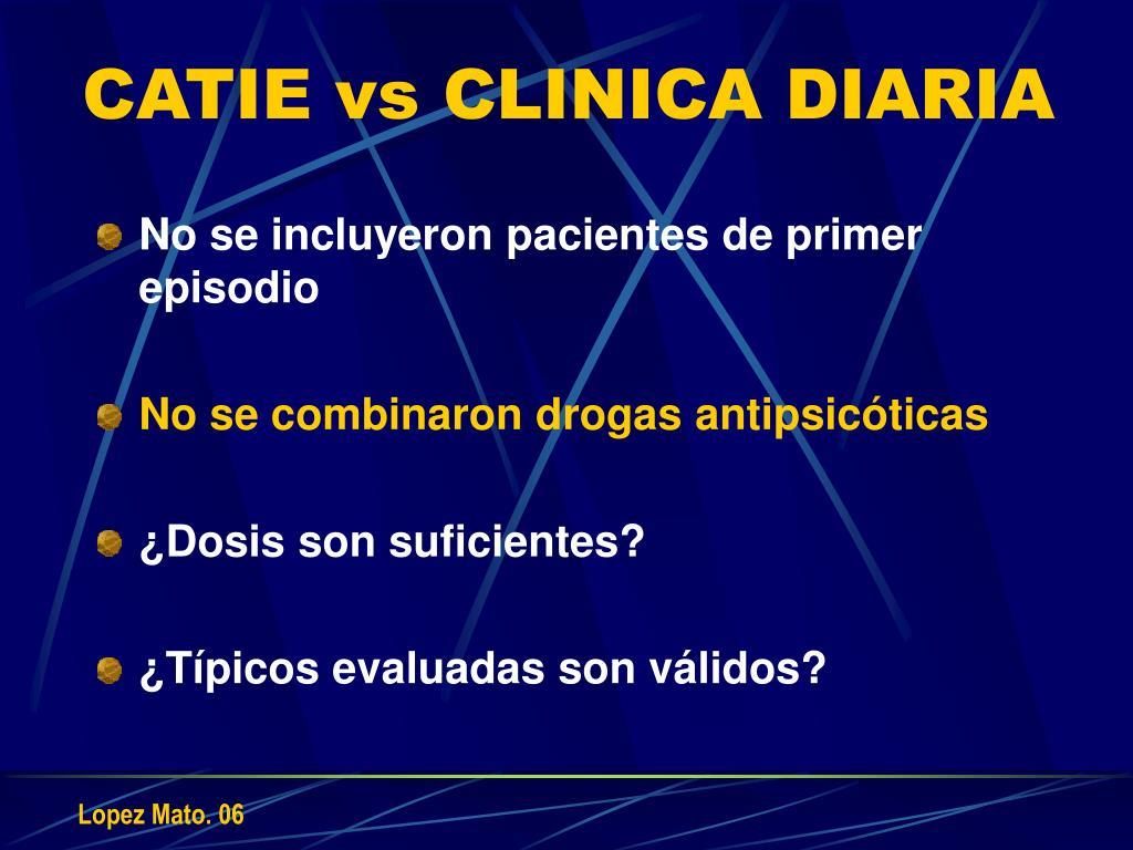 CATIE vs CLINICA DIARIA