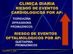 clinica diaria riesgo de eventos cardiologicos por ap