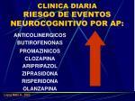 clinica diaria riesgo de eventos neurocognitivo por ap
