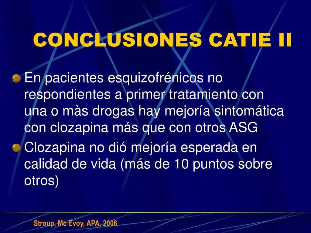 CONCLUSIONES CATIE II