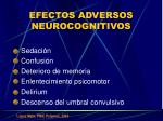 efectos adversos neurocognitivos