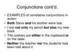 conjunctions cont d47