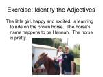 exercise identify the adjectives