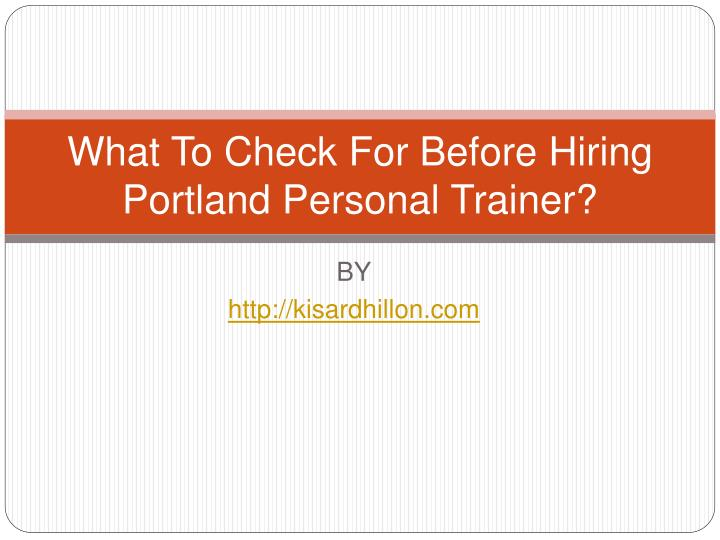 what to check for before hiring portland personal trainer n.