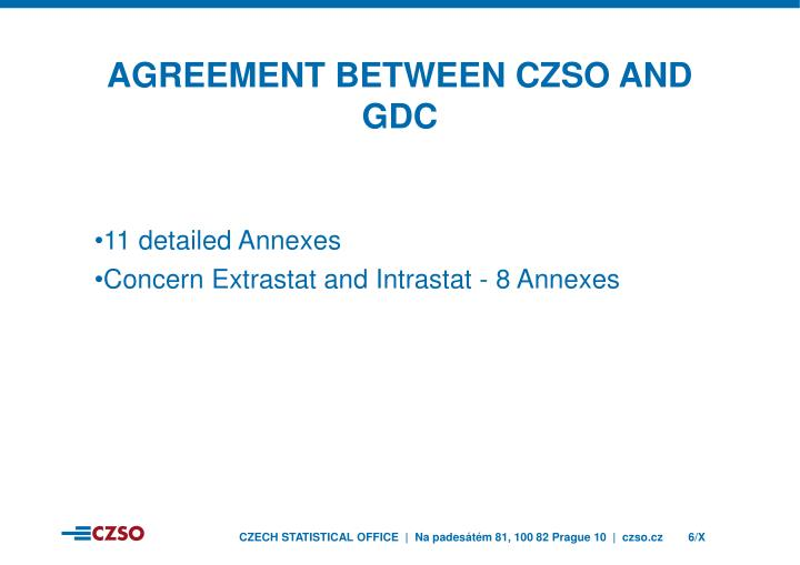 Agreement between czso and gDC