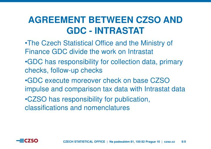 Agreement between czso and gdc - INTRASTAT