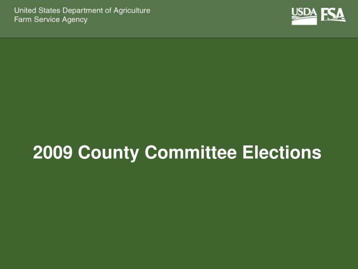 2009 county committee elections n.