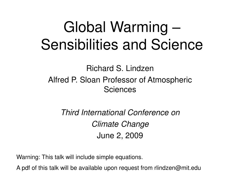 global warming sensibilities and science l.