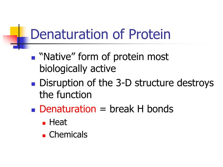 Denaturation of Protein
