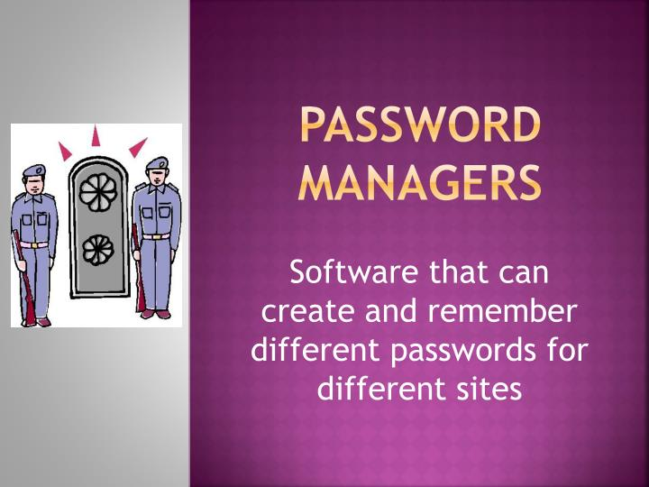 password managers n.