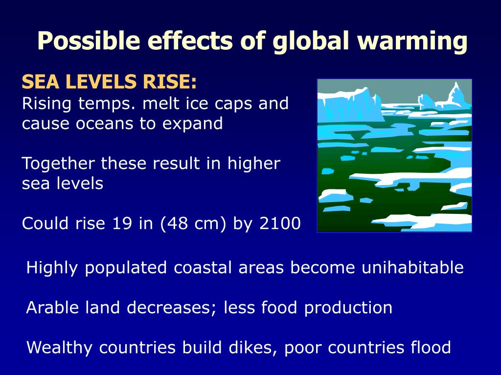 Possible effects of global warming