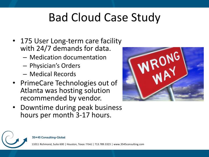 Bad Cloud Case Study