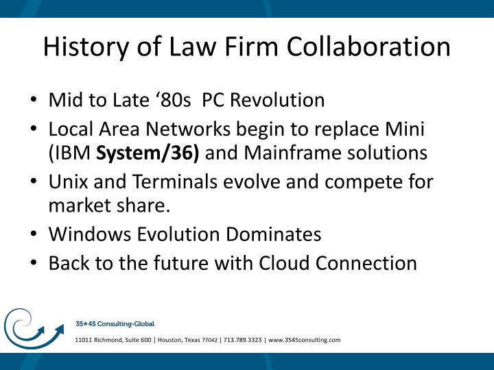 History of law firm collaboration