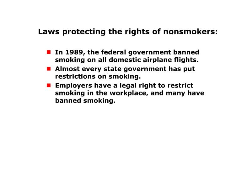 Rights of Nonsmokers (cont'd.)