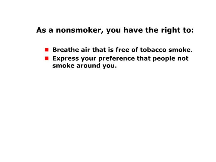 Rights of Nonsmokers