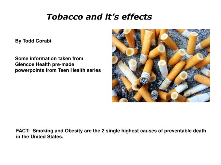 tobacco and it s effects n.