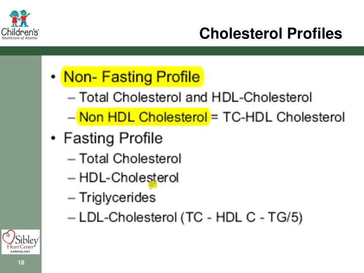 Cholesterol Profiles
