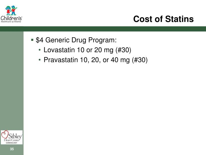 Cost of Statins