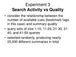 experiment 3 search activity vs quality