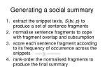 generating a social summary