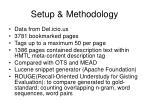 setup methodology