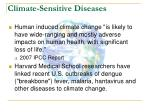 climate sensitive diseases