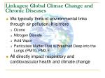 linkages global climae change and chronic diseases