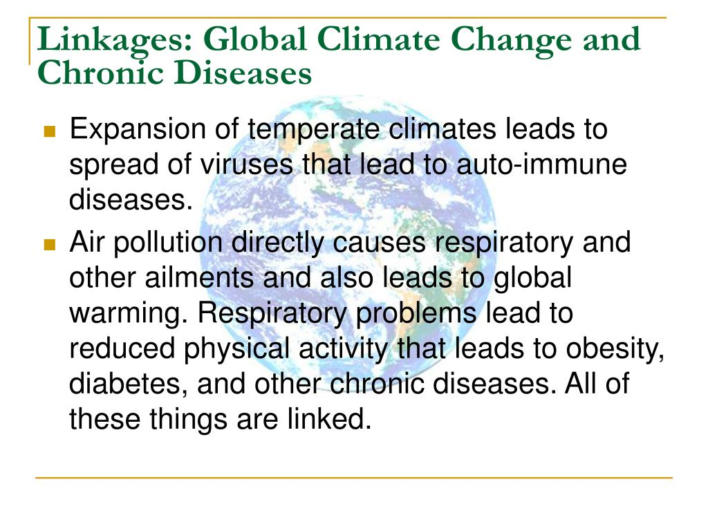 Linkages: Global Climate Change and Chronic Diseases