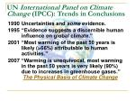 un international panel on climate change ipcc trends in conclusions