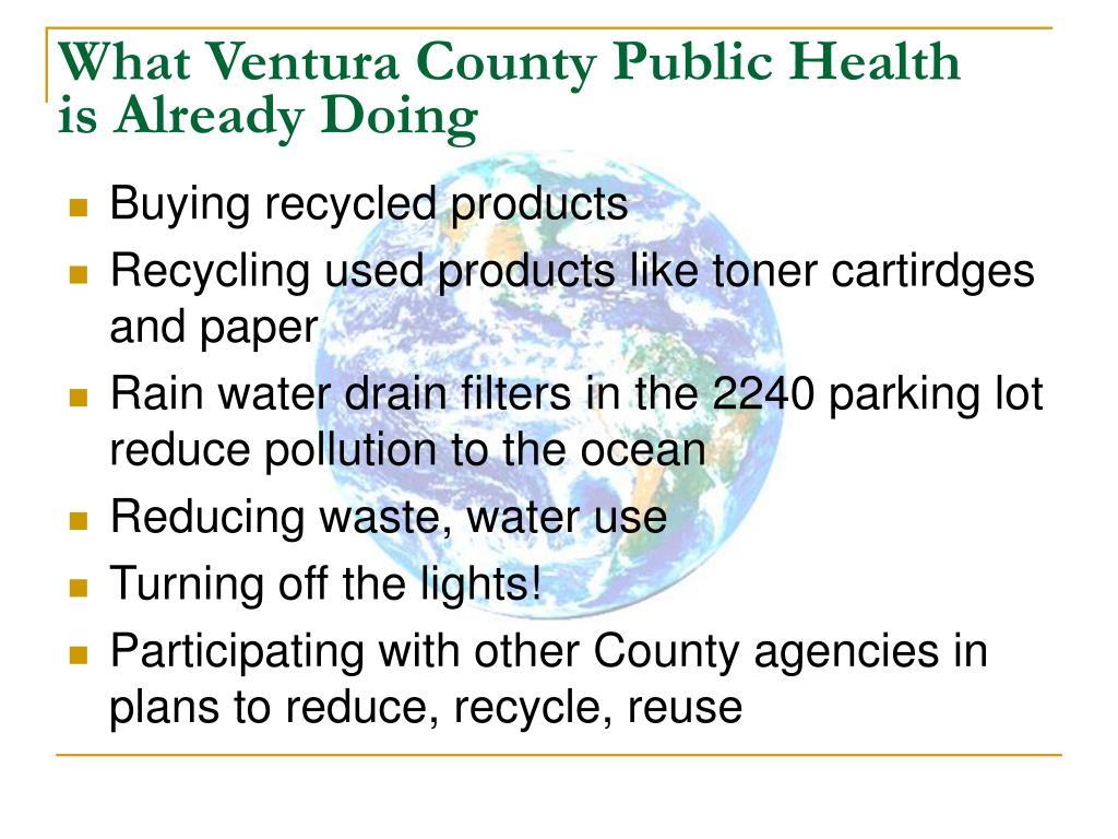 What Ventura County Public Health