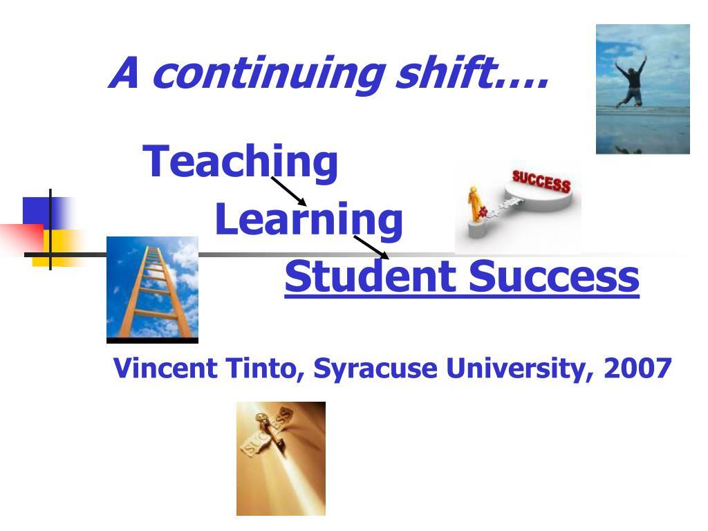 A continuing shift….