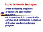 active outreach strategies108
