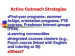 active outreach strategies96