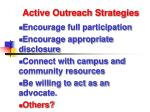 active outreach strategies98