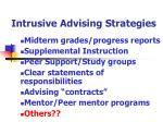 intrusive advising strategies68