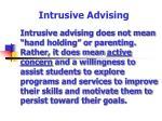 intrusive advising61