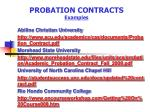 probation contracts examples