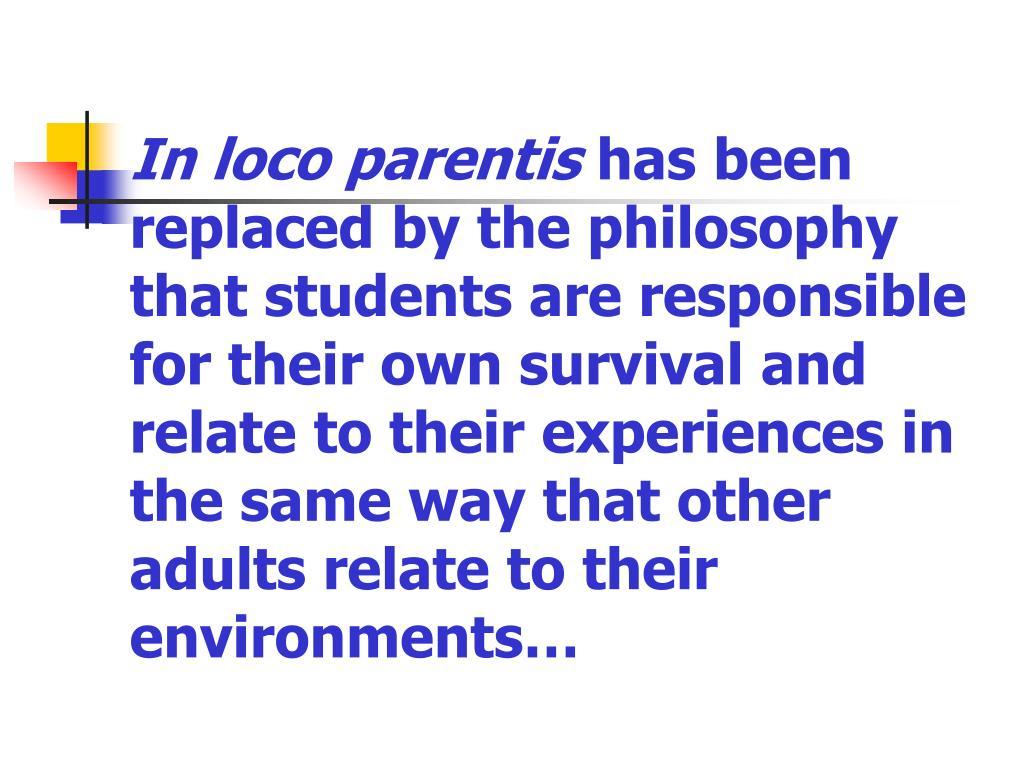 In loco parentis