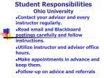 student responsibilities ohio university